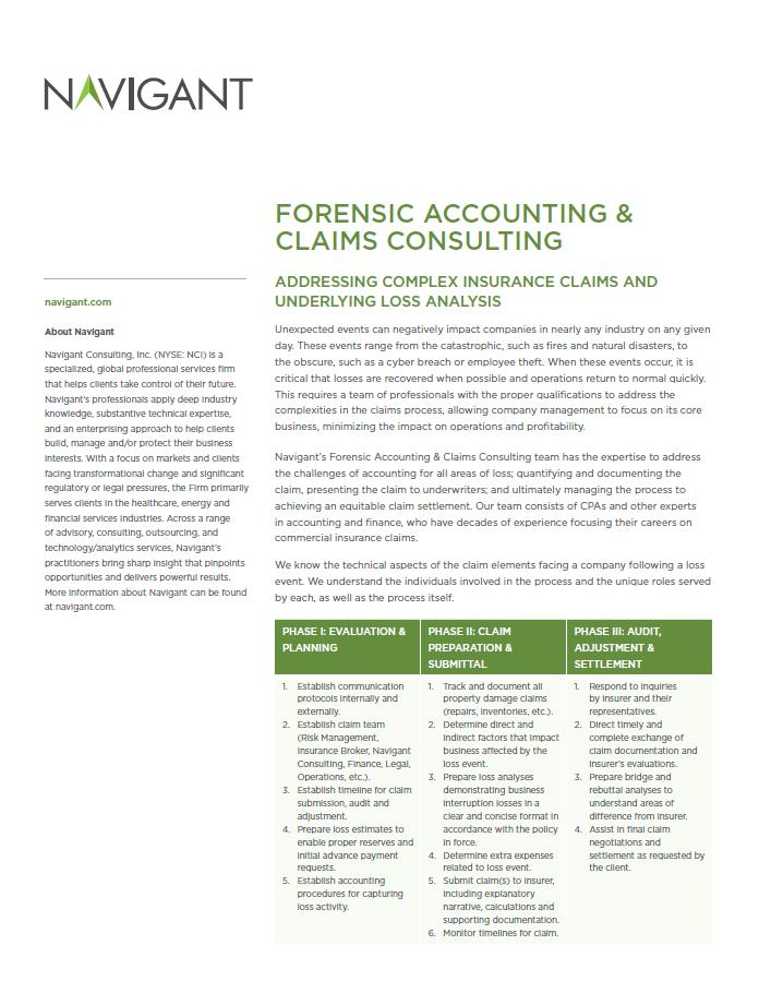 Forensic Accounting & Claims Consult...