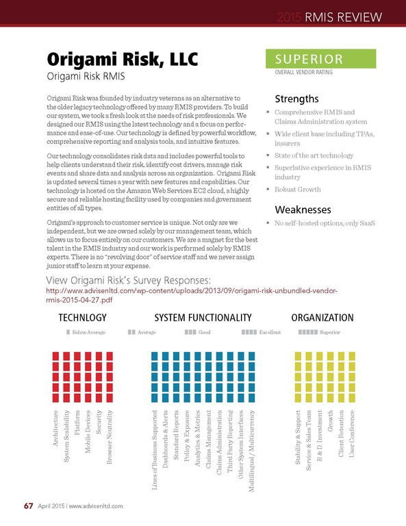Origami Risk Rims Marketplace